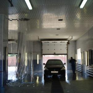 Полосовые завесы ПВХ для автомойки